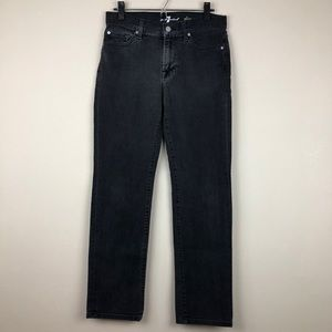 7 For All Mankind Black Slimmy Jeans Size 30